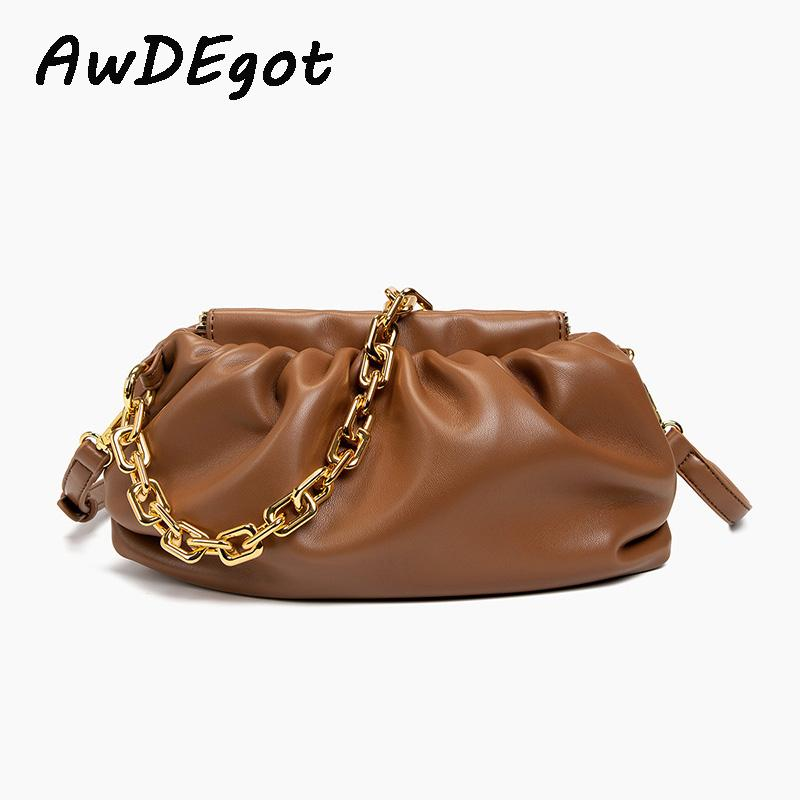 29CM Grosso Cadeia Bag Bolsa alça longa Camel Brown Crossbody Saco da bolinha de massa de mão de embreagem sacos para as mulheres de 2020 Bolsas de ombro Atacado