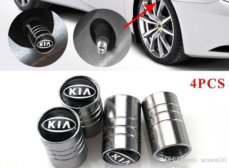 Oto Parçaları Araba Jant Lastik Vanalar Kia rio ceed sportage için cerato ruh caps k2 Lastik Kök Hava Caps Araba Styling 4 adet / grup