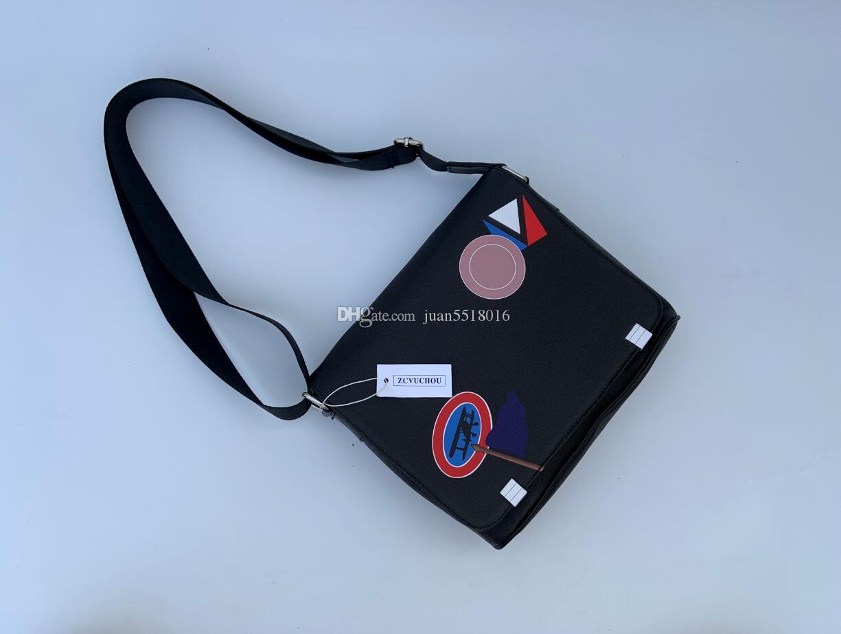 2020 de la moda clásica bolsas de mensajero de cuero de los hombres cruz del cuerpo del bolso de hombro mochila escolar cartera del bolso de los 28CM bolsa de la tableta