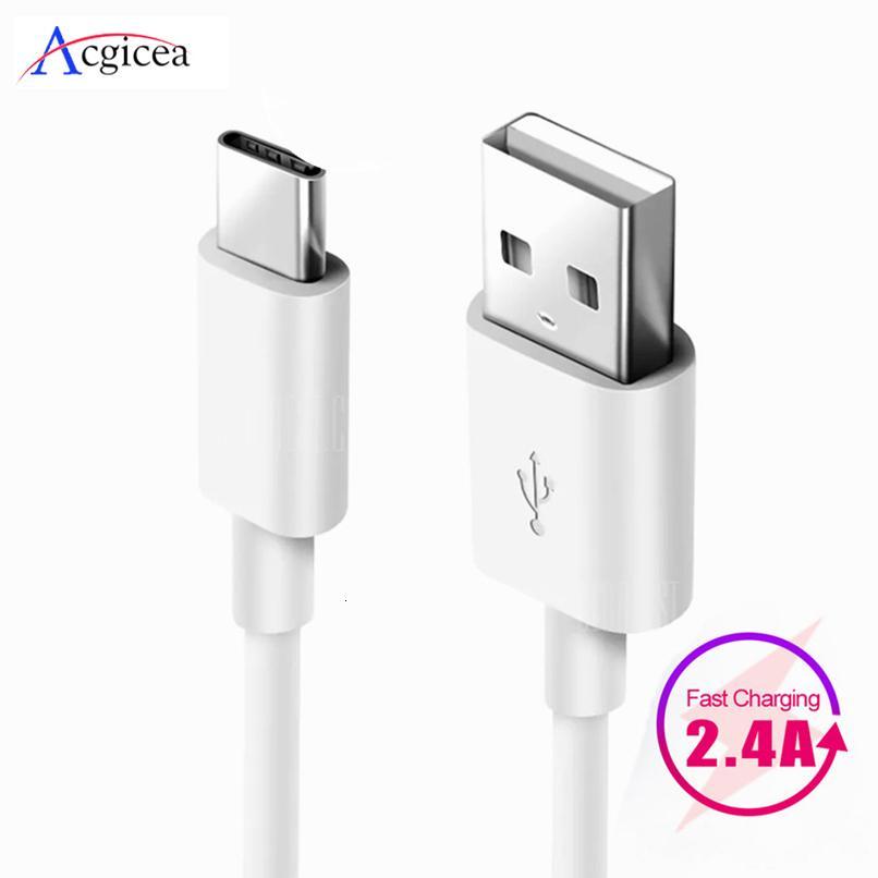 1m 2m 3m USB tipo C para Samsung Galaxy S10 S9 S8 Plus OnePlus 6T de carga rápida USB del teléfono móvil cargador C Cables tipo C