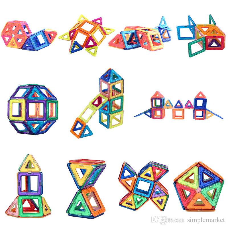 40pcs / SET magnetischer Bausteine Mikromagnet Designer zu bauen 3D-Modell Magnet-Block Kinder pädagogisches Spielzeug Spielzeug Geschenk für Kinder