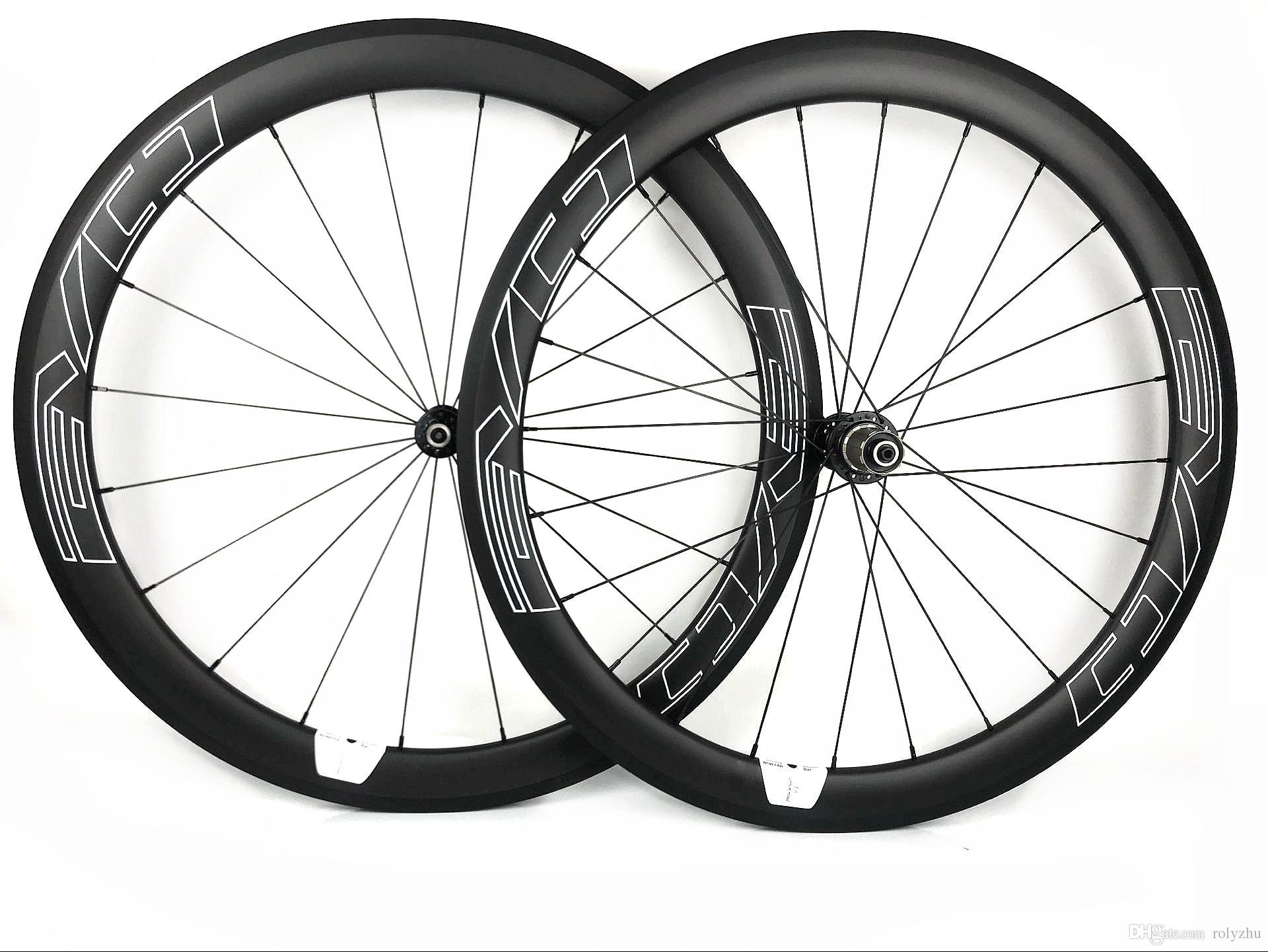 ايفو 700c 50 ملليمتر عمق الطريق دراجة عجلات الكربون 25 ملليمتر الفاصلة العرض / أنبوبي دراجة سوبر ضوء ايرو الكربون العجلات مع 1420 تكلم