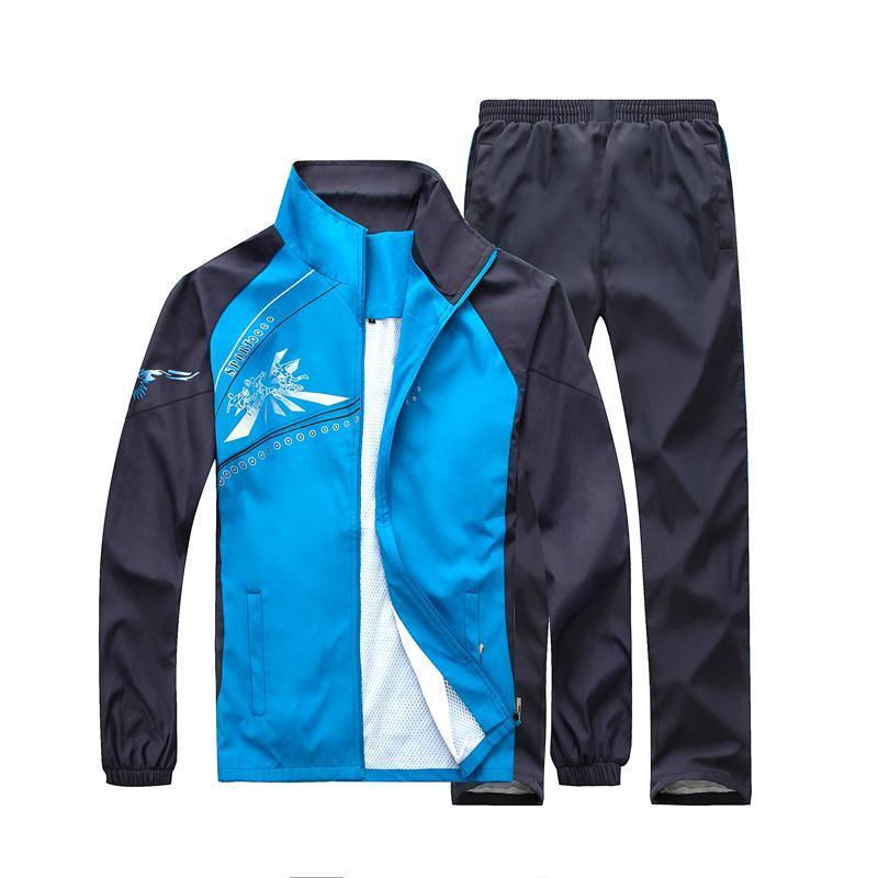 Spring Men Sporting Suit Men Sweat Suits Tracksuit Sets Zipper Coat + Long Pants Couples Suits Moletom Masculino Windproof Tide