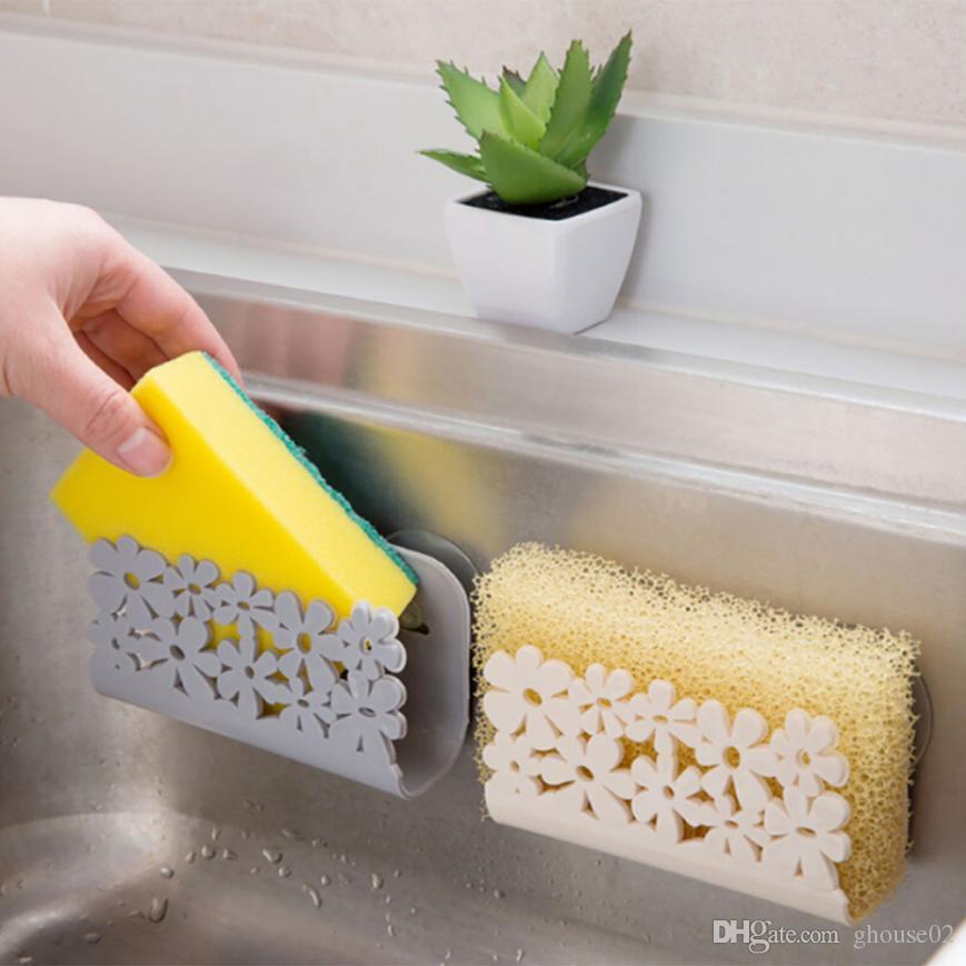Cozinha Casa de Banho Rack de Secagem Pia Do Banheiro Sucção Esponjas de Sucção Rack de Sucção Taça Panelas Titulares Scrubbers Soap De Armazenamento