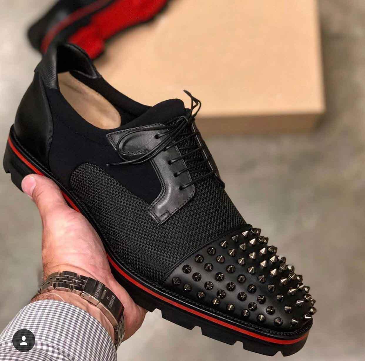 Derby Luis Mika Sky Gentleman Red Bottom Oxford Gehen Männer Partei-Hochzeit Loafer Schuhe Luxus-Schuhe Hombre 38-46