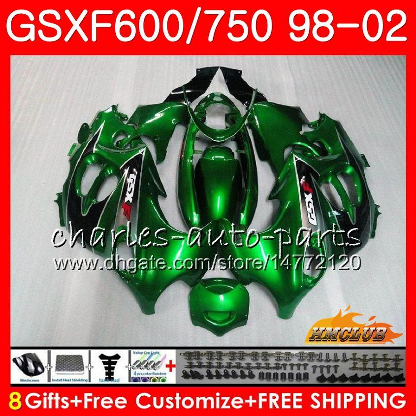 Тело для Suzuki Katana GSX600F GSXF750 1998 1999 2000 2001 2002 2HC.42 GSXF 750 600 GSX750F GSXF600 98 99 00 01 02 Стоковая Зеленая обтекатель