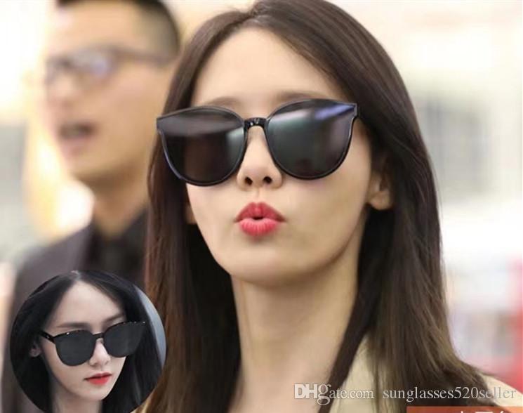 Горячие моды Корея Черный Питер Женщины Солнцезащитные очки Корея Gentle Sun Glasses Монстр звезда моды Lady Vintage Оригинальный пакет Марка Дизайнер Ос