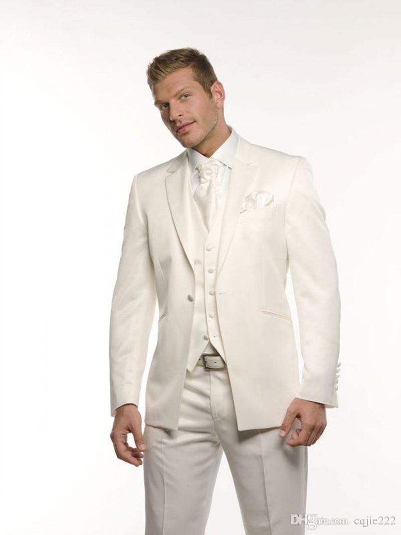 Una soluzione su misura 2020 NUOVO smoking dello sposo di nozze Groomsman Suit Suits Testimone dello sposo sposo (Jacket + Pants + Tie + Vest) 789