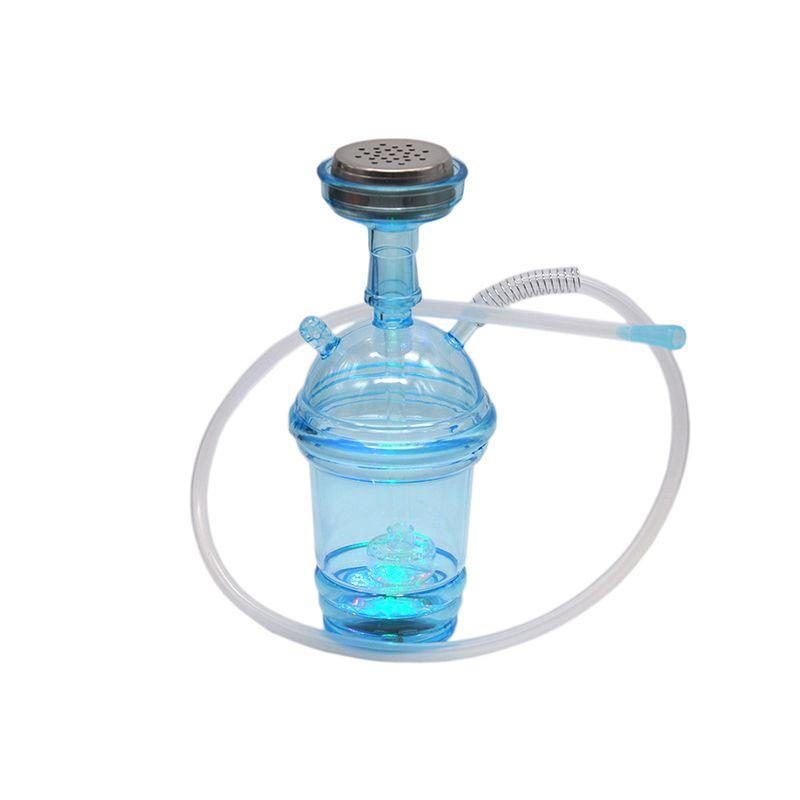 새로운 뜨거운 컵 플라스틱 물 담뱃대 컵 더블 순환 필터 탈착식 워터 파이프 shisha