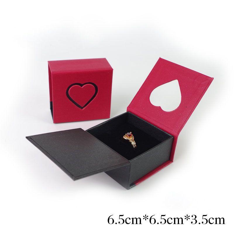 Rojo Oscuro Joyería Collar Regalo De Cartón Estuche Rectangular Titular Caja B9G5 Sgh