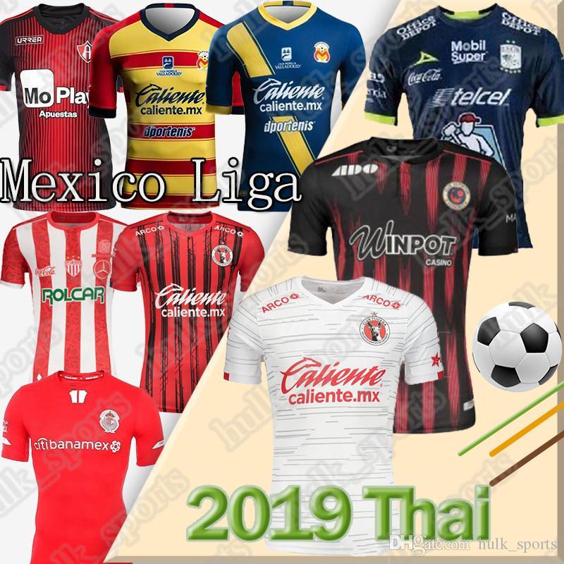 19 20 Mexique Club Tijuana Accueil Soccer Jerseys LIGA MX Atlas Camiseta de Fútbol Necaxa football Chemises uniformes