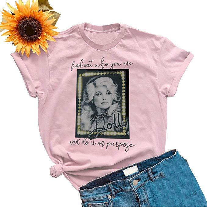 Dolly Parton Guts Grits And Lipstick Vintage Men/'s T-Shirt Black Cotton All Size