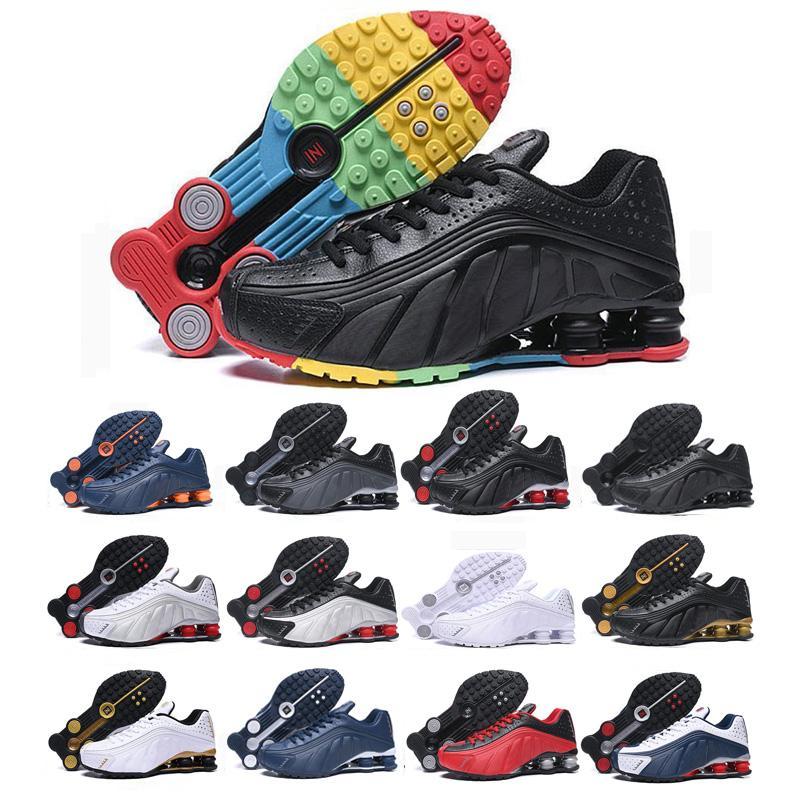 2020 핫 판매 원래는 R4 스포츠 남성 여성 배 블랙 화이트 골드 스니커즈 패션 통기성 신발 신발 신발을 실행 갖다