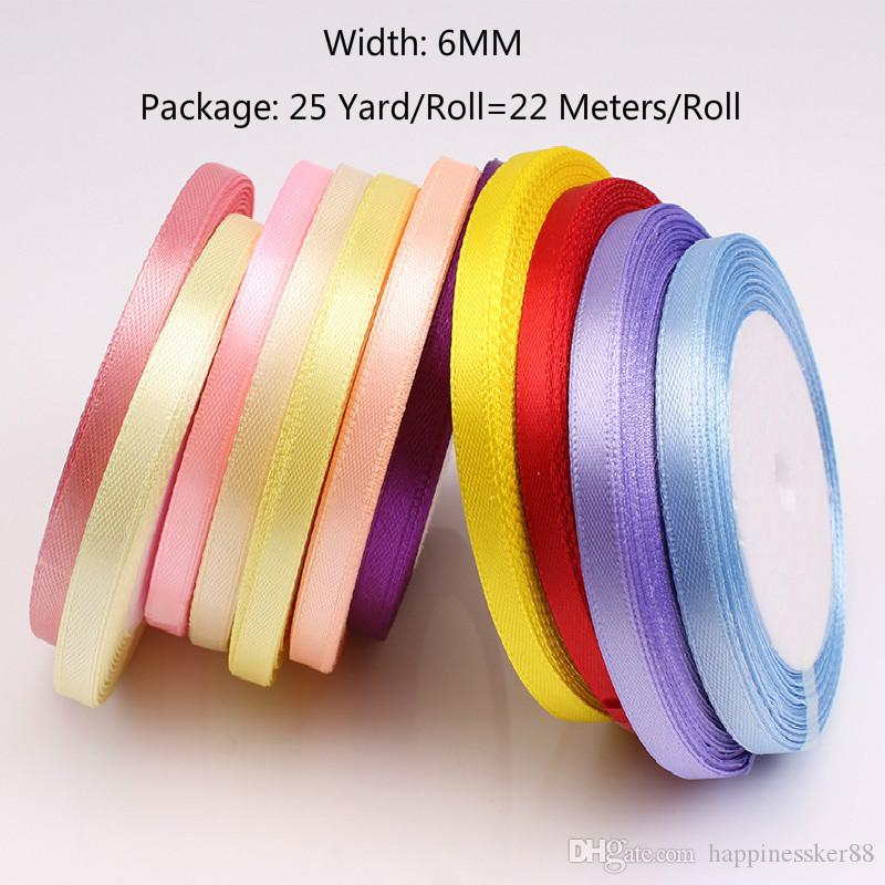 10 Yards Grosgrain Satin Fabric Ribbons Handmade Gift Bow Ribbon for Wedding