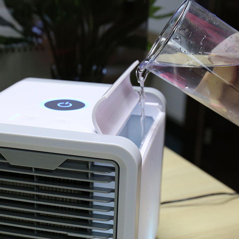Портативный кондиционер воздуха Вентилятор охлаждения 165x165x170мм 400 / 750мл с 7 цветами светодиодные фонари USB Воздушный кулер Вентилятор Вентилятор Очиститель воздуха Любое пространство
