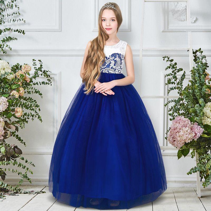 Бальное платье первое первое причастие платье для девочек тюль детский костюм для детей ткань цветочница платья для свадьбы 5-12 лет