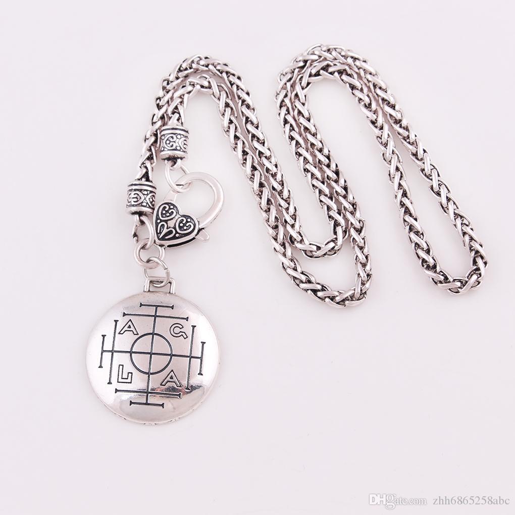 HL004 Moda nuevo diseño vikingo colgante amuleto para Europeand y el collar de pareja estadounidense Mujeres y los hombres de encanto religioso de estilo nórdico