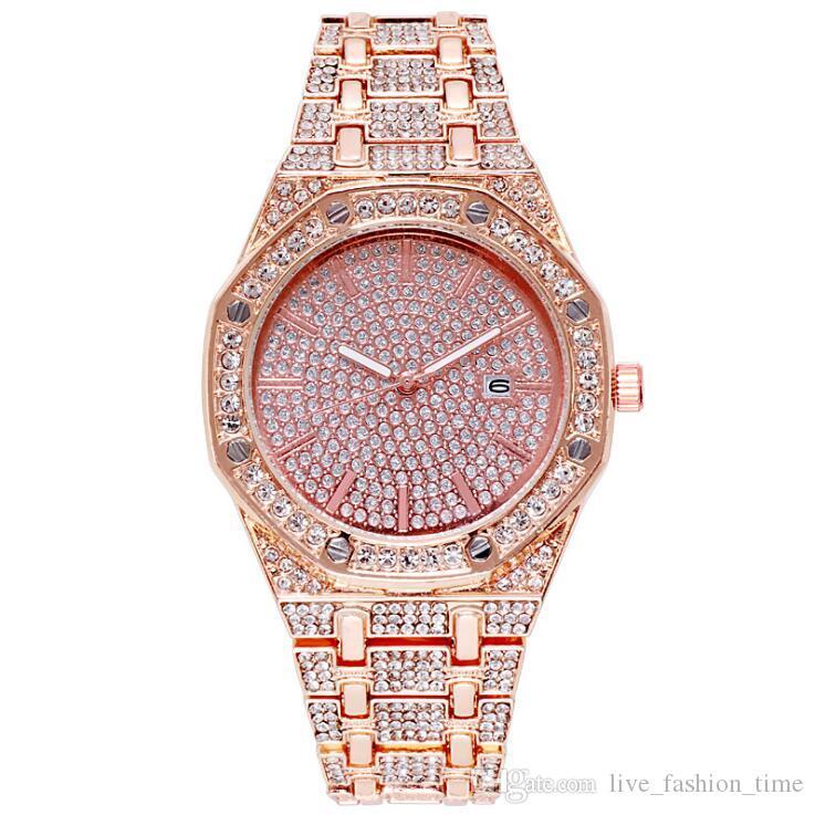 3 цвета Rhinestone 36mm конструктора женщин смотреть женщина дама платья золотых часов бриллиантового браслета Relogio feminino Подарки Женщина Часы наручного
