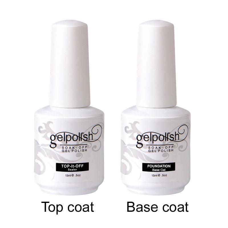 VERION TOP y capa base Transparente Gel de uñas Polaco No Gel Sticky Acrylic Glue Polaca de uñas Non Cleasing Base para imprimación