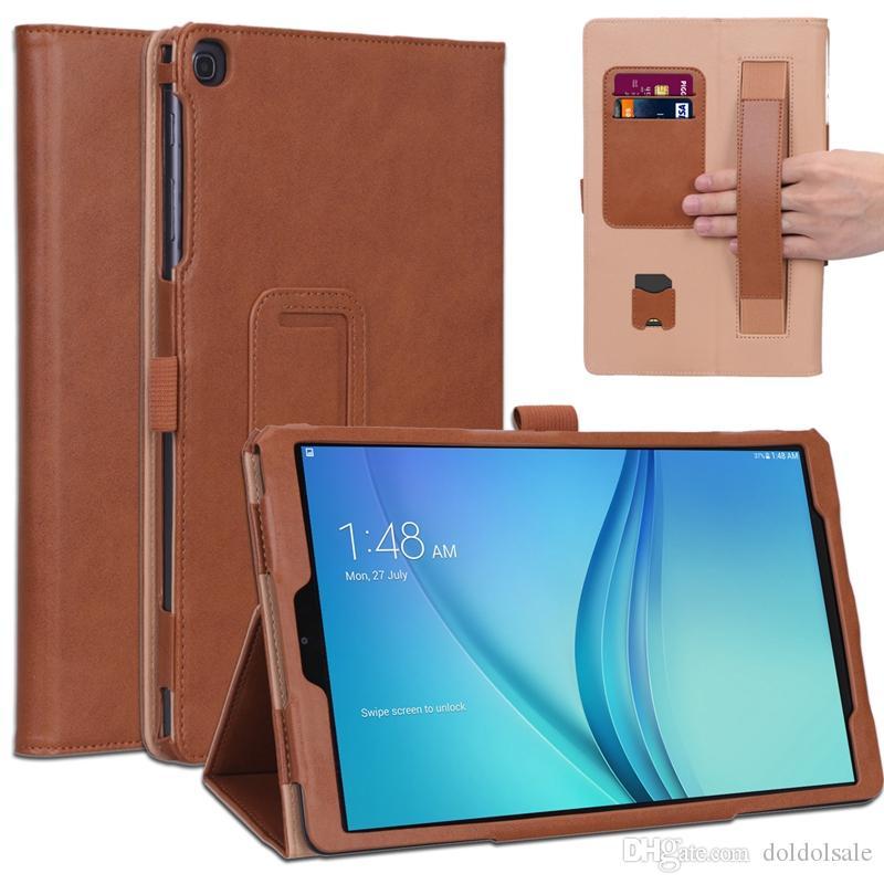 Samsung Galaxy Tab için 30 adet Lüks Kılıf Bir 10.1 2019 SM-T510 SM-T515 T510 T515 Tablet Kapak Standı Kart Yuvaları El Kayışı