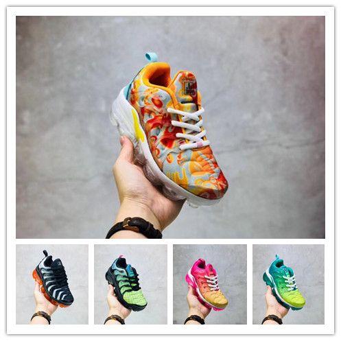 nike TN plus air max airmax vapormax Designer Criança Tn Além De Tênis De Corrida Kid Sneakers PURO PLATINUM triplo preto branco cinza lobo fresco Chaussures tns Schuhe Trainers