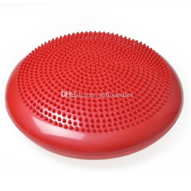 33 سنتيمتر pvc نفخ اليوغا الكرة سادة الاستقرار الرصيد القرص تدليك وسادة حصيرة الكرة اللياقة البدنية التدريب ل رياضة المنزل YMB001 جديد