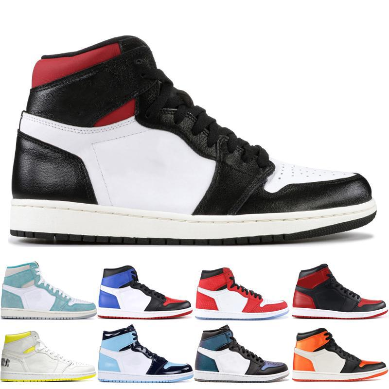 Gym Red 1 Men Basketball Shoes 1s Men Yellow Toe Multi-Color Pine Green Athletics Sneakers Shoe Trainer Sports