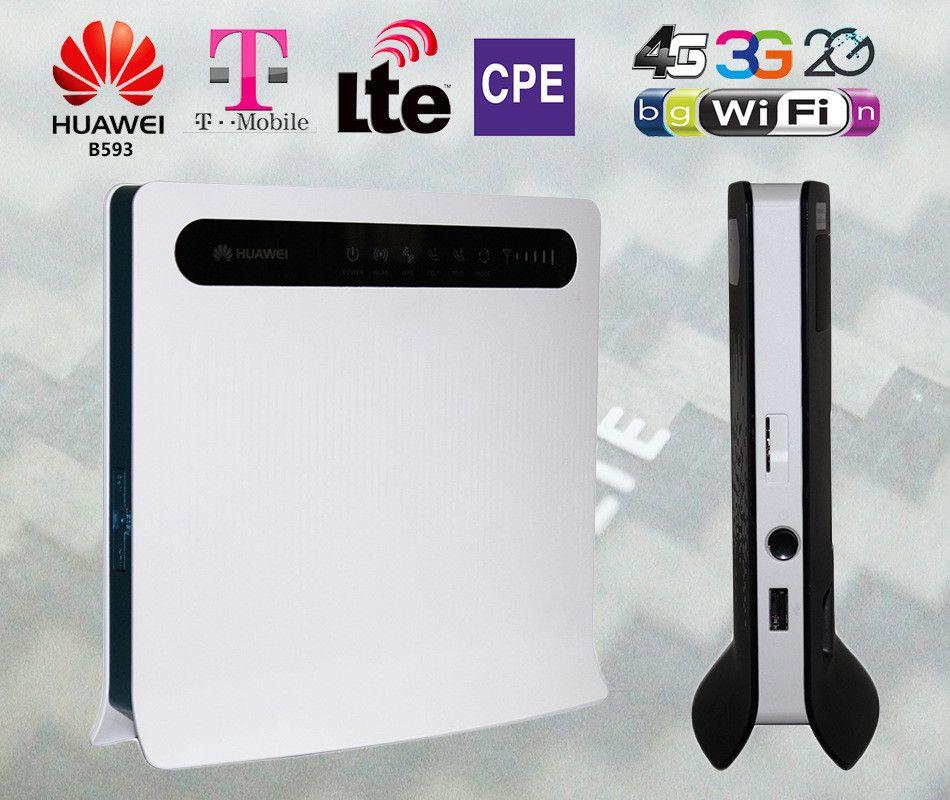 4G LTE CPE industrial roteador WiFi 150Mbps Huawei B593s-22 Wifi + Lan + RJ11 Até 32 Usuários Router Desbloqueado