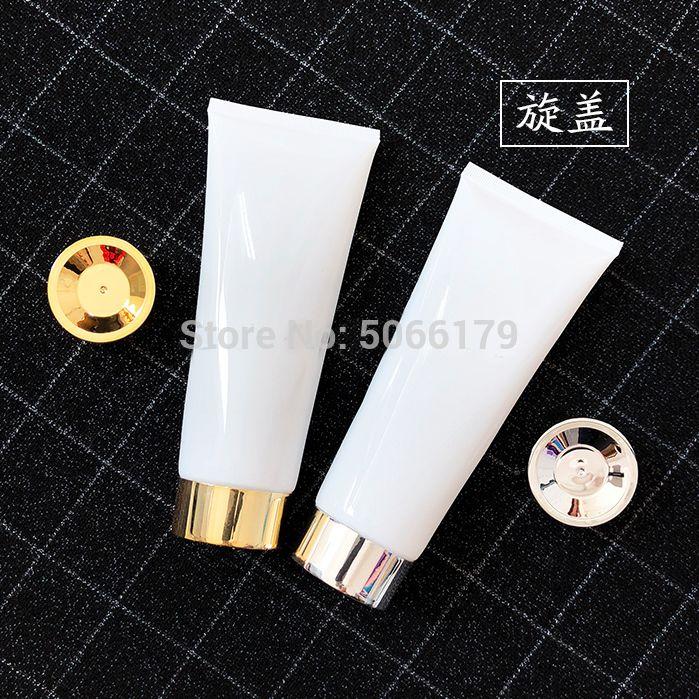 200ml / g boşaltın Kozmetik Hortum Yumuşak Tüp, Makyaj Güzellik Yüz Temizleyici Krem Squeeze Yumuşak Tüp, Şampuan / Vücut Yıkama Doldurulabilir Şişe
