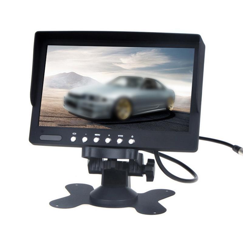 1pcs 7 pouces LCD couleur écran voiture Vue arrière moniteur avec télécommande peut être connecté à la caméra de recul