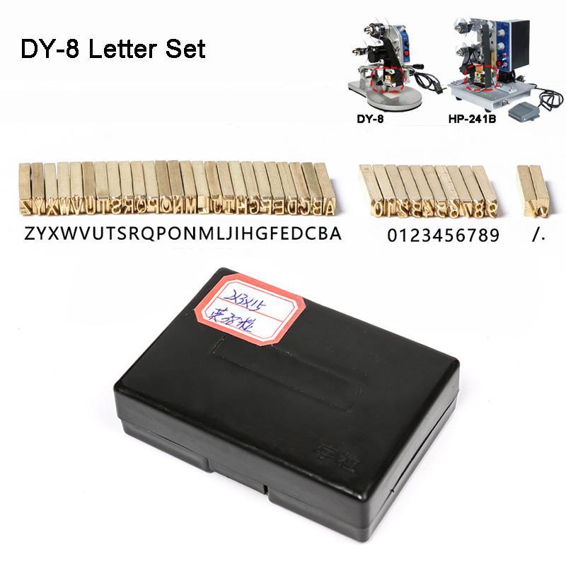 Şerit Baskı Isı Damgalama Kafa Sıcak Baskı Yedek Parça Bitiş Kod Baskı Makinasının DY-8 / HP-241B mektup seti numarası seti