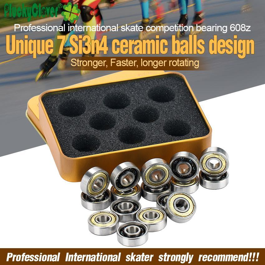 Pluckyclover Abec11 608 Ceramic Ball Bearing Roller Skates Inline Speed Skating Inline Skate Shoes 7 Ball Ceramic Skate Bearing lHTiP