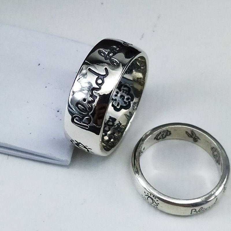 puro argento L'antico amore famiglia Sinted uomini anello lingua degli uccelli fiori anello S925 e donne retrò antica serie di gioielli in argento francese
