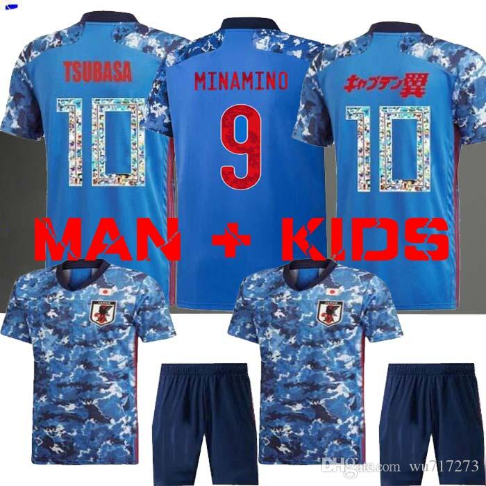 Giapponese Away Jersey Giappone 2019 2020 Tsubasa Jersey di calcio Jersey Giappone Coppa del Mondo Atom 19 20 Casa Away Kagawa Okazaki Hasebe Jerseys