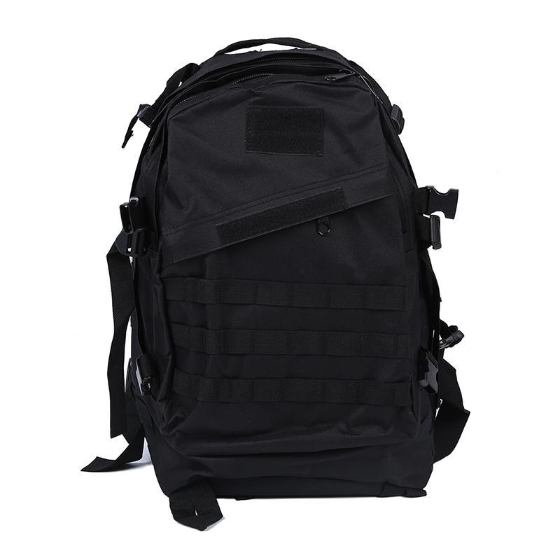 ABUO-táctico militar mochila mochila bolsa de viaje de acampada Senderismo 40L Negro