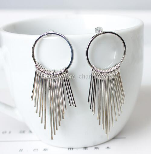 new hot Temperament tassel is contracted long style restore ancient ways hyperbole geometry ear nail vogue is classic and delicate and elega