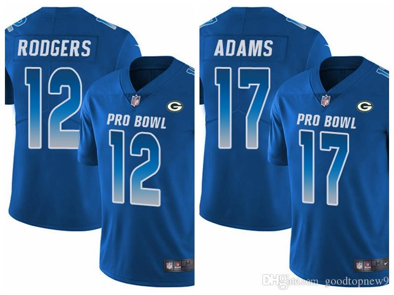 watch 1c34d d2bea Green Bay Women'S Men'S Youth Aaron Rodgers Davante Adams Limited Football  Jersey Packers Royal Blue NFC 2019 Pro Bowl Prom Suits White Prom Tuxedos  ...