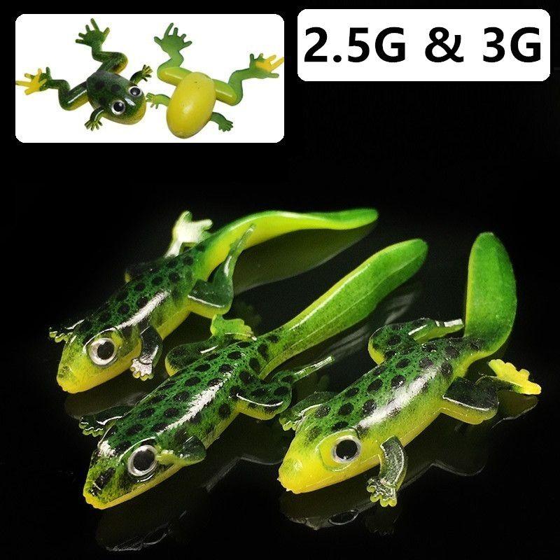 20pcs deux modèles 4cm / 2.5g 7.5cm / 3g silicone Frog pêche leurre souple appâts leurres Attirail de pêche g-008