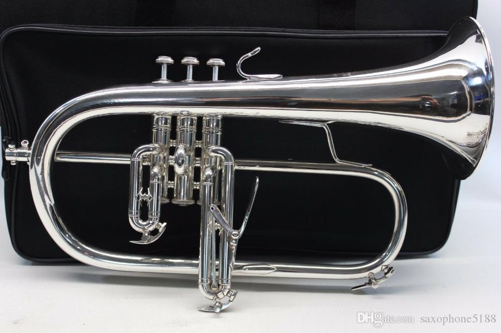 Bach 183 BB البوق Flugelhorn النحاس الفضة مطلي ب شقة تروموف فلورهورن المهنية الموسيقية آلة مع القضية الملحقات