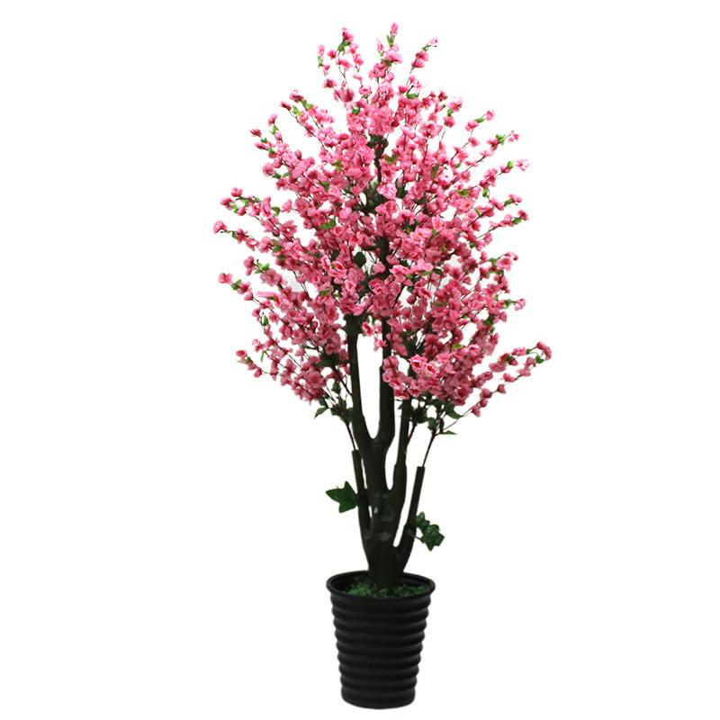 2021 Artificial Flower 200cm Peach Blossom Tree Fake Tree Home Decor Large Potted Greenery Bonsai Faux Plants Artificial Plants From Hymen 200 81 Dhgate Com