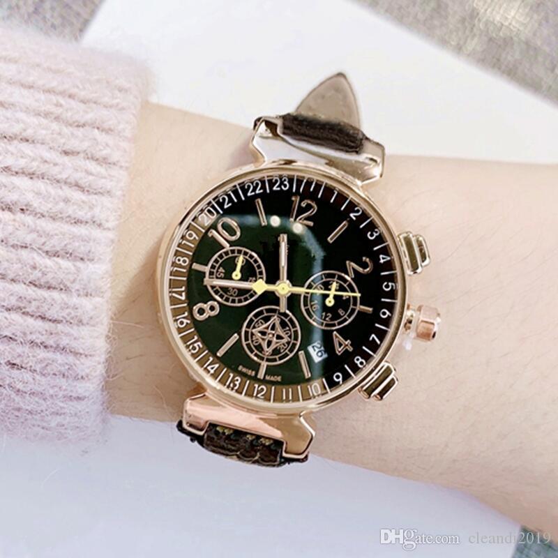 Relogio feminino Мода Дизайн женщин Часы Роскошные платья WristWatch High Quaility популярный часы Горячие продажи Кварцевые часы с датой челнока