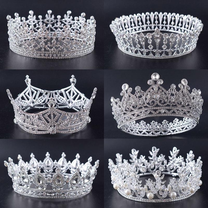 Snuoy Wedding Bridal Crown Luxury Rhinestone Full Circle Queen Crown And Tiara For Women Hair Ornaments Accessories J 190430