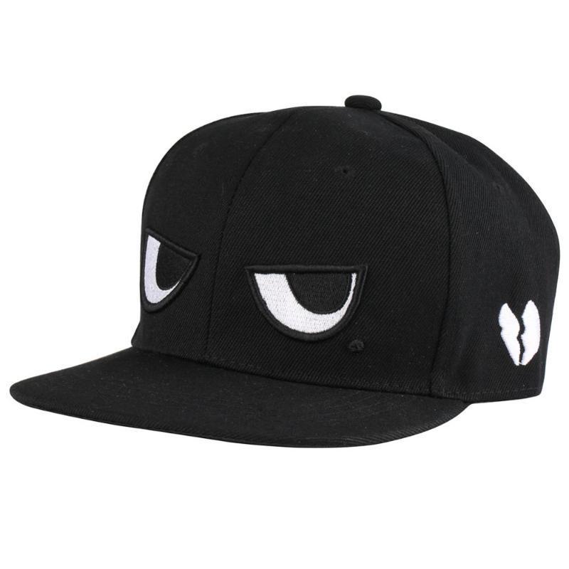 dos homens Bone Hip Hop Caps preto bordado Olhos Óculos Logo Punk Estilo Streetwear Arrefecer Womens Hat Casquette Dad Chapéus óssea