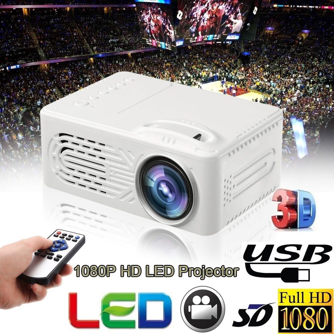 الأزياء الترفيه المنزلي العارض 1080P HD الوسائط المتعددة البسيطة LED فيديو بروجكتور محمول PC TV صندوق لعبة فيديو