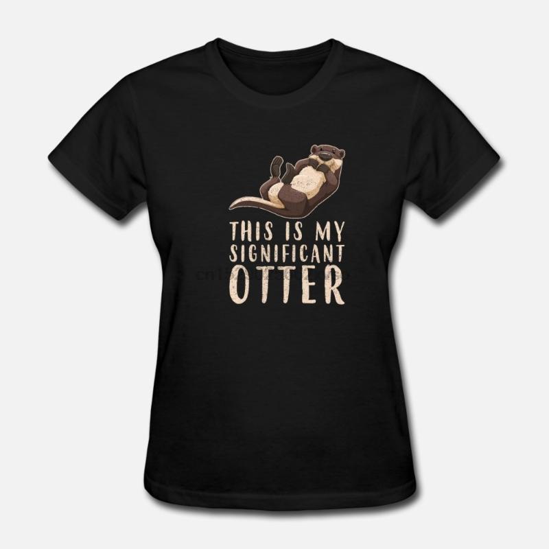 Hommes T-shirt Ceci est mon important Loutre T-shirt couple T t-shirts femmes t-shirt