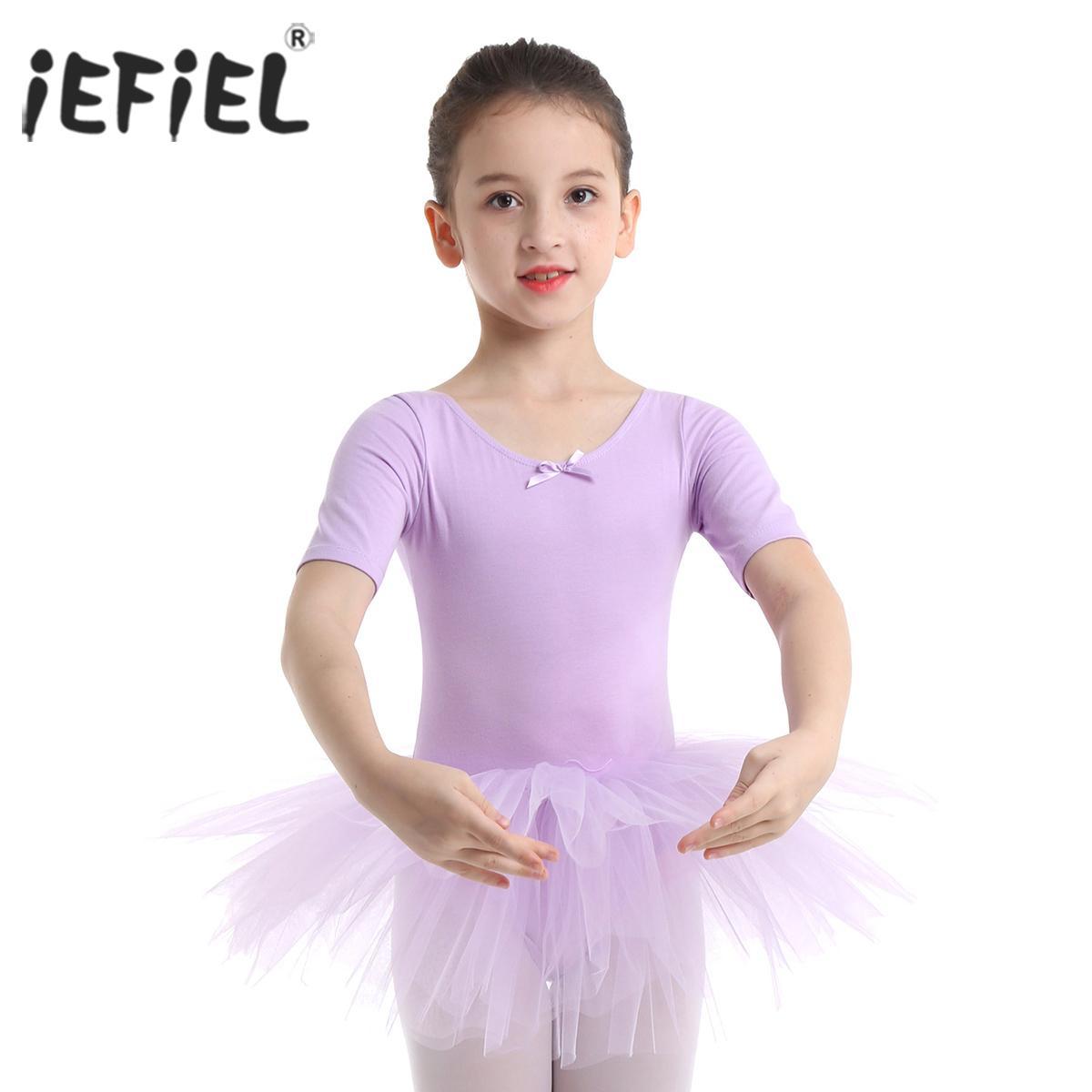 US Girl Gymnastics Ballet Dance Dress Toddler Kid Leotard Tutu Dancewear Costume