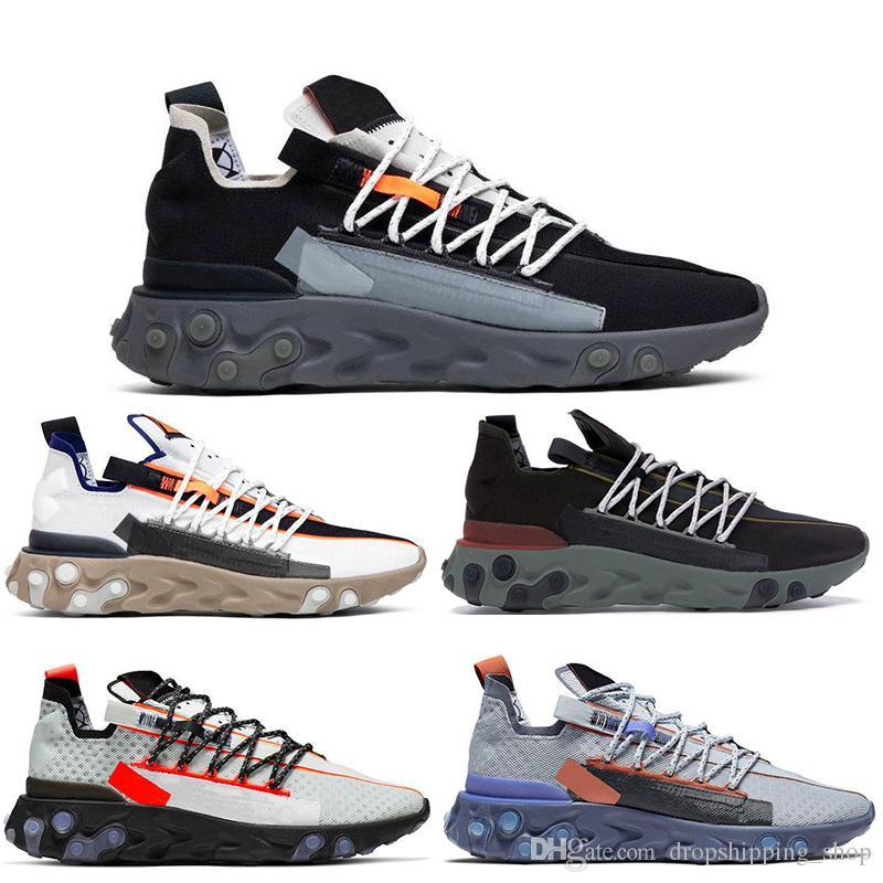 NIKE 2020 Hot React WR ISPA Chaussures de course Hommes Femmes Ghost Aqua Elvet Marron LW MID Gunsmoke Pure Platinum Blanc Gris mens formateur Sneaker