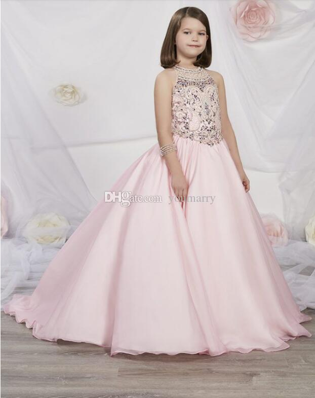 2019 New Style Ball Gown Girls Pageant Dresses Little Baby Camo Flower Girl Dresses With Beads