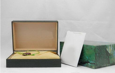 مصنع المورد الفاخرة الخضراء مع الأصلي ووتش مربع أوراق بطاقة المحفظة BoxesCases الساعات الفاخرة مربع