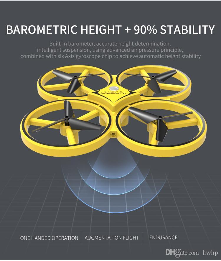 Infravermelho Sensing Relógio Inteligente de Indução UAV Aviões de Controle Remoto Suspensão de Obstáculos Evitar Quatro Eixo Aeronaves UFO Brinquedos UFO Brinquedos